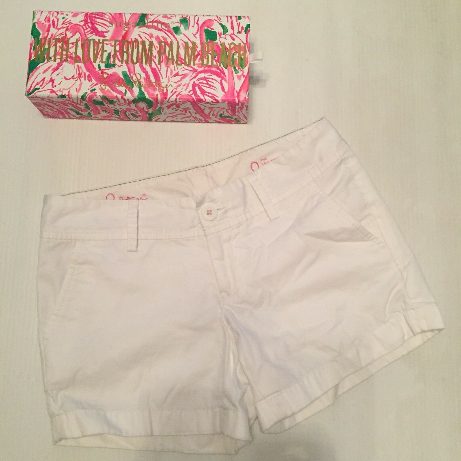 Lilly Pulitzer Callahan Shorts  Solid Resort White   Size 0