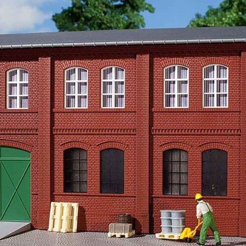 8 Stück 0,87€//Stück Gebäudewände mit Fensteröffnungen rot Auhagen 80508 H0