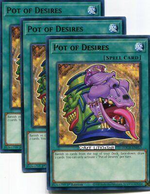 3x Pot of Desires 1st Edition Rare TOCH-EN057 Yu-Gi-Oh!