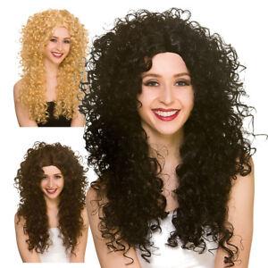 Long Curly Bushy Giant Wig Curls Perm 80 S 90 S Womens Fancy Dress