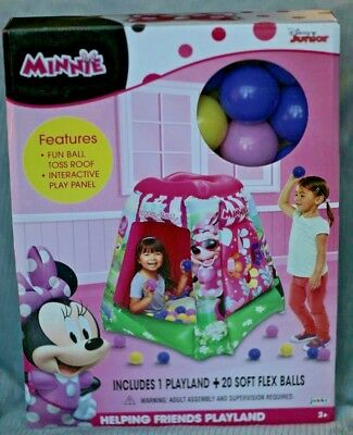 Inflatable BALL PIT Disney Minnie Mouse Helping Friends Playland w 20 Soft Balls