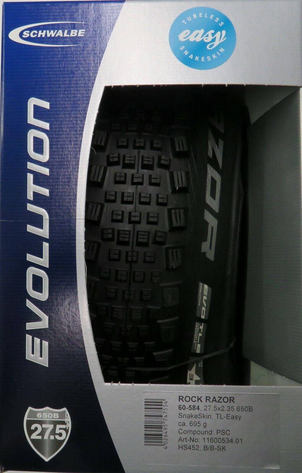 "Schwalbe Rock Razor 650B//27.5 x 2.35/"" MTB Folding Tire EVO TLE PaceStar"