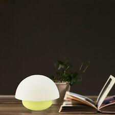 7 Color Tumbler Mushroom LED Kids Night Light Touch Sensor Dimmable Lamp Yellow