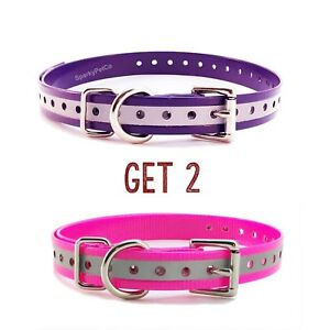 """Sparky Pet 3//4/"""" High Flex Waterproof Replacement Square Buckle Dog Collar ..."""