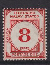 MALAYA (F.M.S.) - 1924/26 P.DUE 8c WMK.CROWN TO LEFT OF CA MINT SG.D4w (REF.D55)