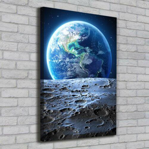 Leinwand-Bild Kunstdruck Hochformat 70x100 Bilder Planet Erde