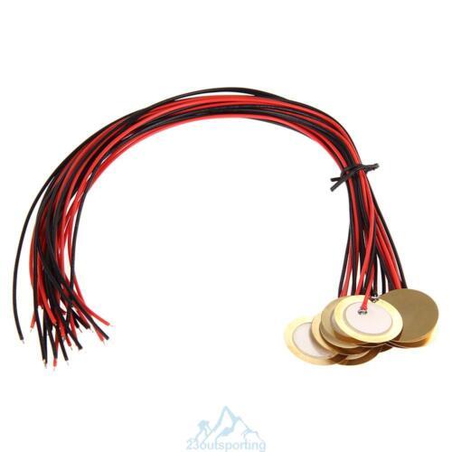 12Pcs 2.7cm Tonabnehmer Transducer Piezo Pickup Piezoelektrische für Gitarre Hot