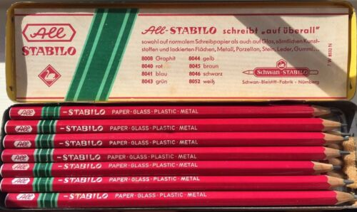 12 Xray Marking Pencils Stabilo All 8008 Replaces Dixon Visaid TruColor NOS