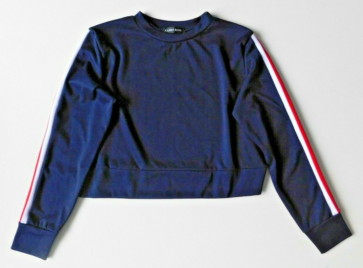 Womens Clothes Navy Blue Cropped Jumper and Jogger Set New Look– Size UK 14