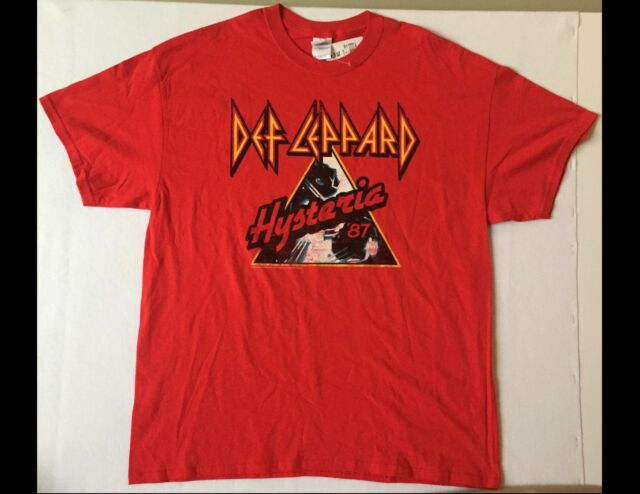 DEF LEPPARD Size XL Red T-Shirt New w/Tag