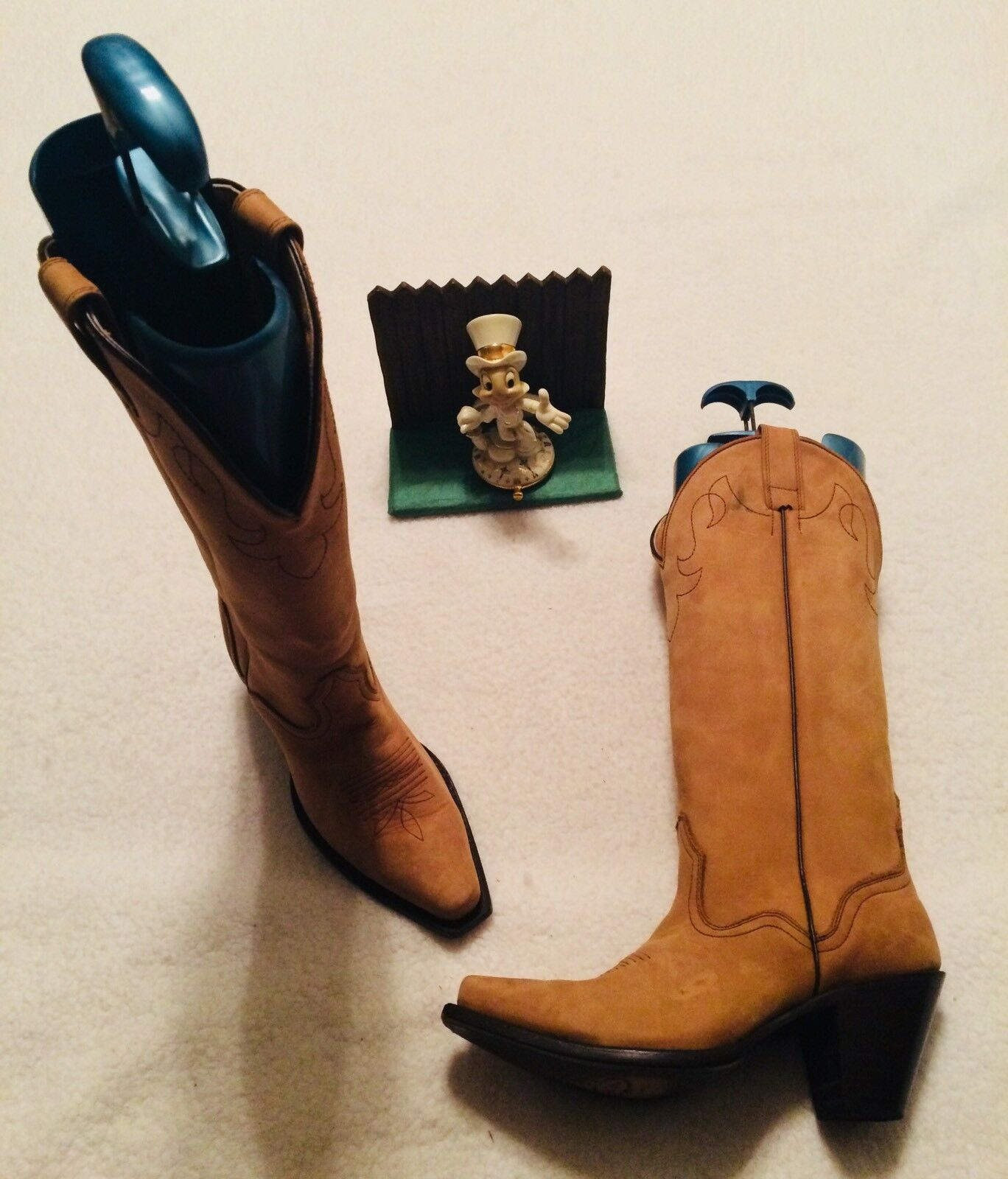 Nuova lista donna J.B.DILLON TAN LEATHER COWBOY WESTERN stivali stivali stivali SZ 7 B 7B VERY NICE 26064  marca
