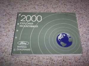 2000 ford explorer electrical wiring diagram manual sport xls xl xlt eddie  bauer   ebay  ebay