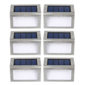 6x led lampe solaire ext rieure lampe de mur imperm able for Lampe exterieure sans fil