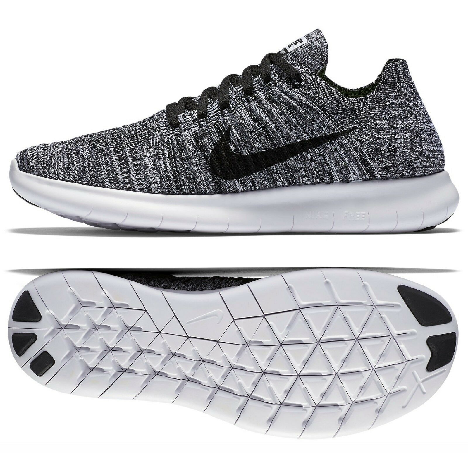 Nike WMNS Free RN Flyknit Oreo 831070-100 White Black Women's Running shoes