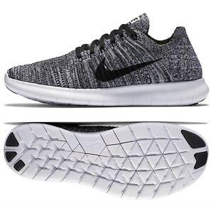 Nike-WMNS-Free-RN-Flyknit-Oreo-831070-100-White-Black-Women-039-s-Running-Shoes