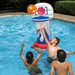 Details about Kool Dunk- Inflatable Basketball Hoop Set Pool Toy - Swimming  Pool Game Float