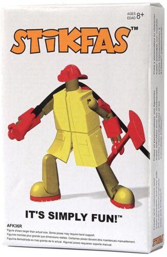 Stikfas Redeco Alpha Male Firefighter Action Figure Kit AFK36R