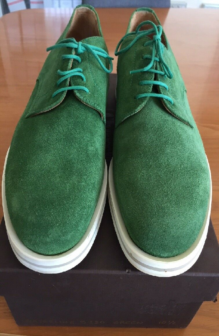 Scarpe Shoes CHURCH WATERLINE Derby Pianta Suede Green F=IT 44,5 Pianta Derby Normale c5d7cb