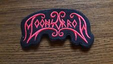 MOONSORROW,SEW ON RED EMBROIDERED PATCH