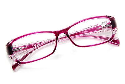 NEW Fashion Futuristic Transparent Spring Hinges Computer Reading Glasses Unisex