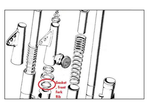 Pair NOS OEM Honda CB100 CD90 S90Z S110 CT70 CG125 Gasket Packing Rib Front Fork