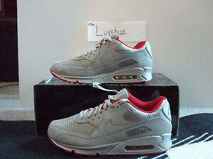 1e8db37160 Nike Air Max 90 Metallic Silver And Red (3M) sz11 VNDS Moon landing ...