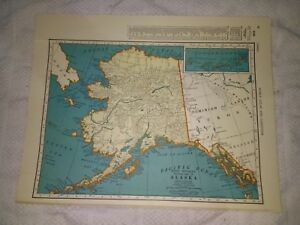 1942-Map-of-Alaska-With-A-Railroad-Map-of-Wyoming-On-The-Reverse