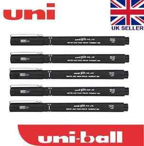 BLACK 0.2 Line Width 5 x UNI PIN DRAWING PEN FINELINER ULTRA FINE LINE MARKER