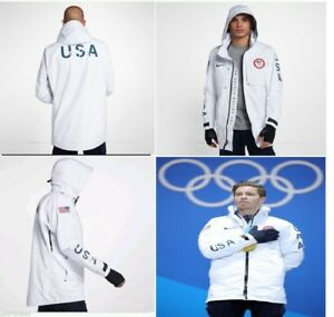 programa Magistrado de primera categoría  NikeLab USA Winter 2018 Olympic SHAUN WHITE Gore-Tex Jacket Nike Polo Men's  Sz M | eBay