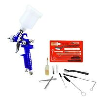 Mini Hvlp Paint Gun Plus 23pc Cleaning Kit Spray Finish Touch Up Sprayer Small