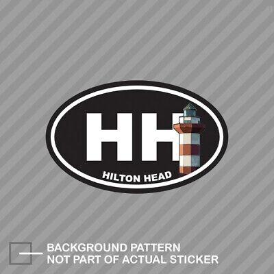 "HHI Hilton Head Island SC South Carolina Oval car window bumper sticker decal 5/"""
