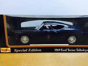 New Ford Torino >> Details About 1969 Ford Torino Talladega Maisto Classic Car Special Edition 1 18 New In Box