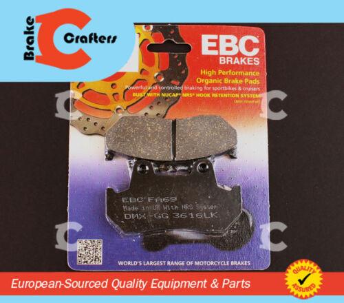 FRONT EBC PERFORMANCE ORGANIC BRAKE PADS 1983-1986 HONDA CB 450 SC NIGHTHAWK