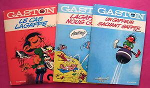GASTON-FRANQUIN-TROIS-ALBUMS-EN-BON-ETAT
