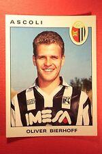 Panini Calciatori 1991/92 1991 1992 N. 17 ASCOLI BIERHOFF OTTIMO!!!