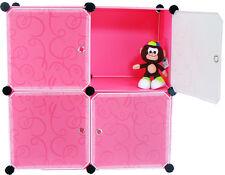 Furniture Bookcase Storage Cabinet Shelf Closet Cube Organizer Pink (4) Cubitbox