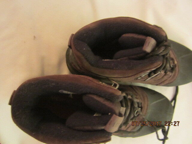 Preowned Men's Size 8 1 2 Merrill Expresso Brown Suede Hiking Boots