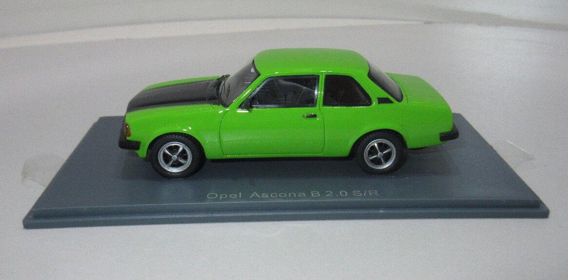 Voiture miniature OPEL ASCONA B 2,0 S R vert maßestab 1 43 11156