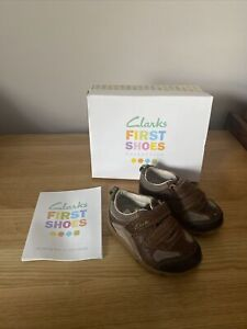 BABY BOYS CLARKS FIRST SHOES UK SIZE 3