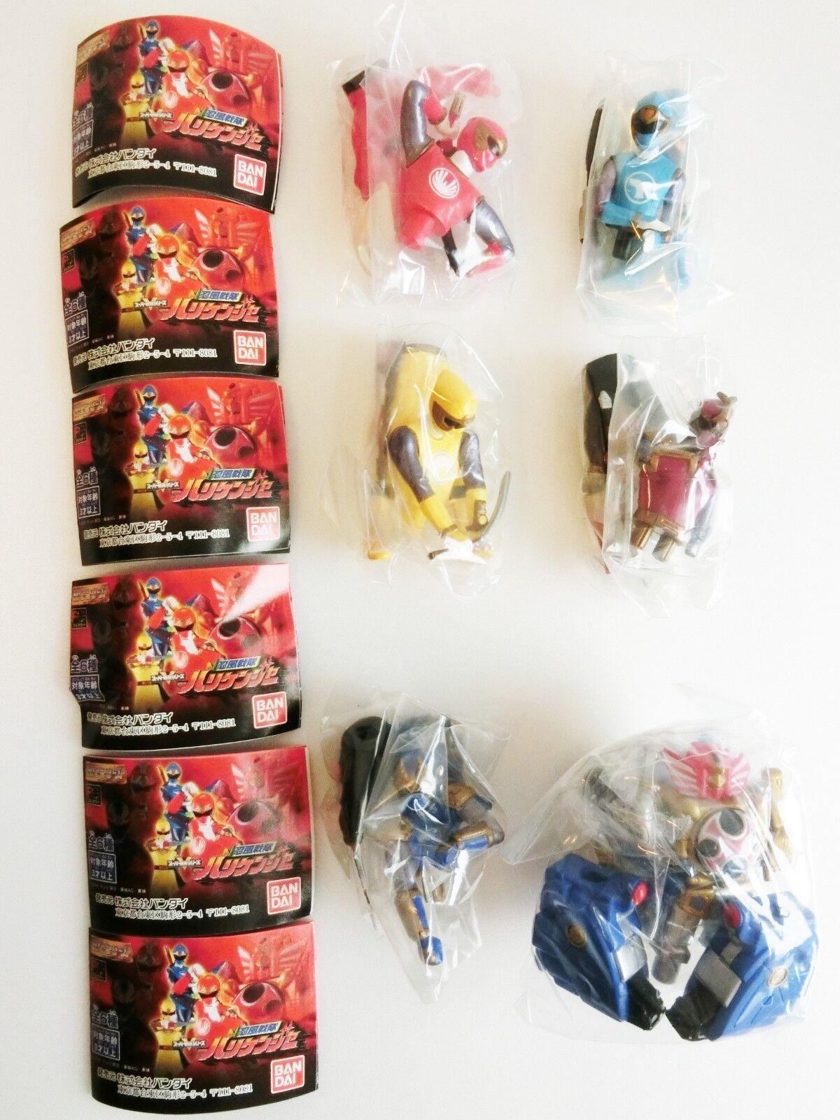 HG Power Ranger  Hurricanger Bandai All 6 6 6 Complete set Figure Gashapon F S Japan d6ca67
