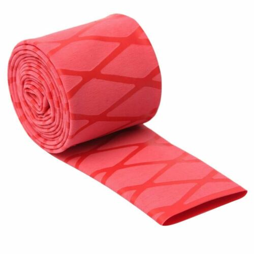 Red Non Slip Heat Shrink Tube Textured Wrap Sleeving Handle Grip Sizes/&Lens