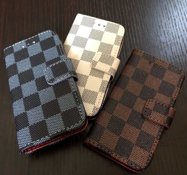 For iPod Touch 5th & 6th Gen - LEATHER CREDIT CARD WALLET POUCH CASE COVER PLAID