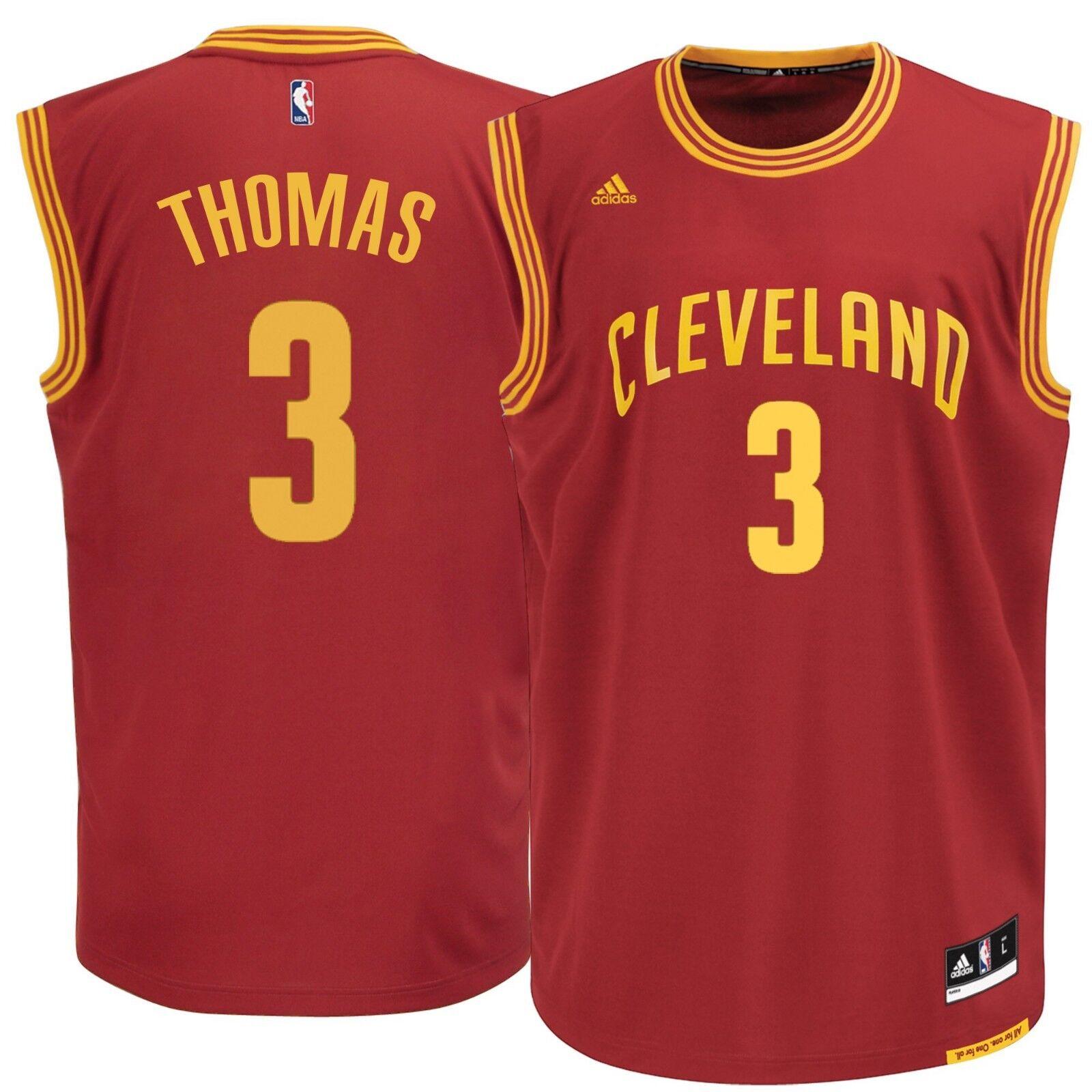% Genuine Isaiah Thomas Cleveland Cavaliers adidas  Replica Jersey L- Burgundy