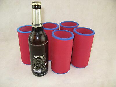 passgenau Bierkühler 4er Set Getränkekühler 0,33l Flasche Neoprenkühler