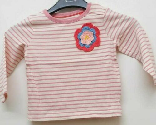 BU8 NEW RRP £27.99 Baby Boden girls' Floral applique top