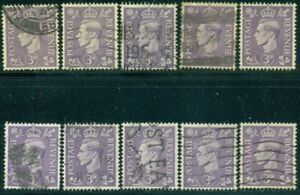 GREAT BRITAIN SG-490, SCOTT # 263, USED, 10 STAMPS, GREAT PRICE!