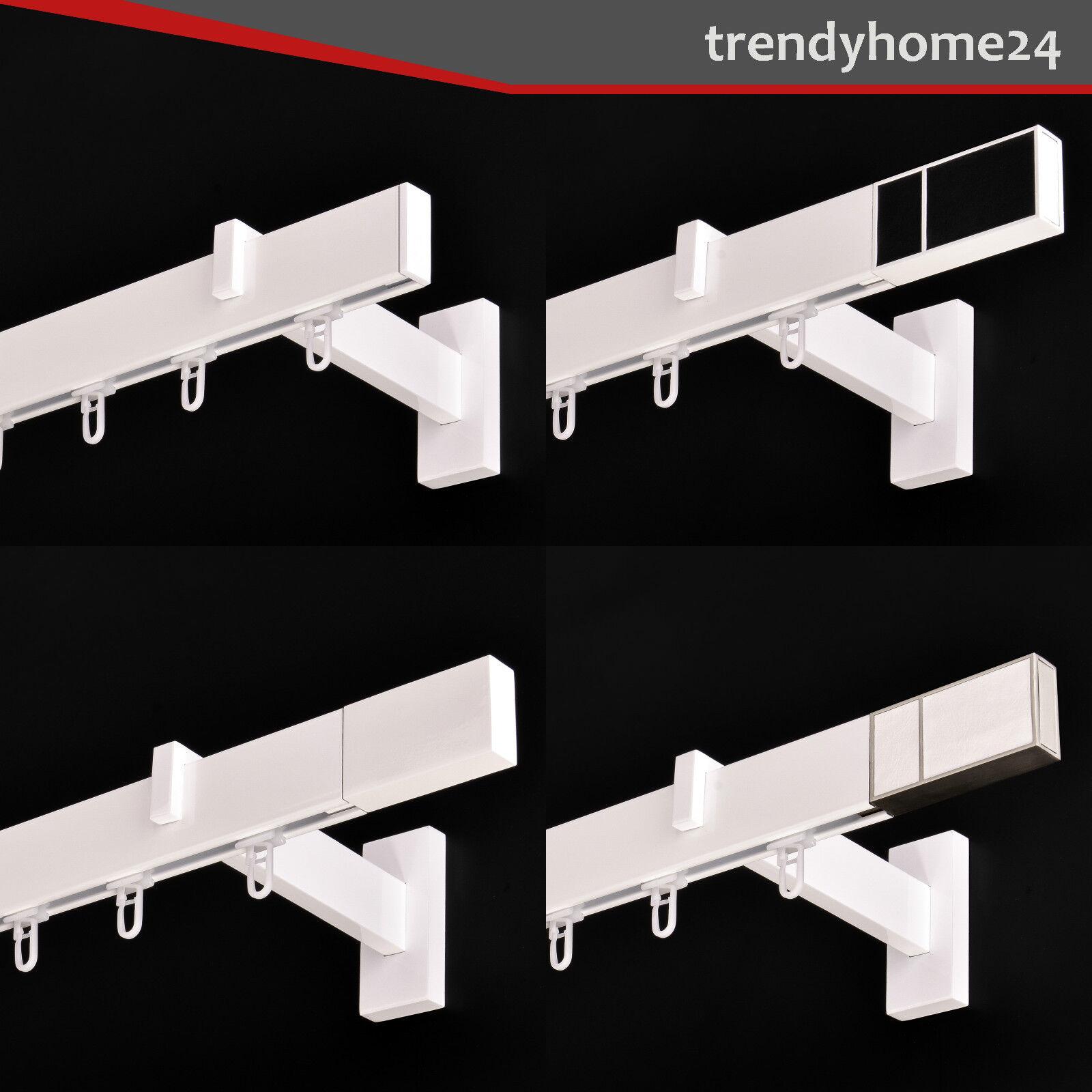 Gardinenstange Innenlauf 34 12mm 1-läufig in Weiß-Glänzend Aluminium (158)  | Up-to-date-styling