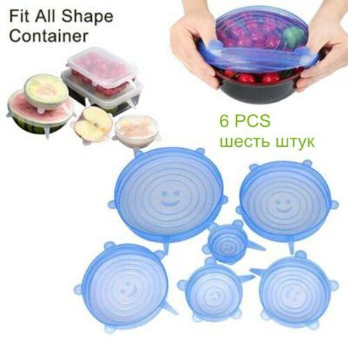 Elásticas Tapas  de silicona paquetes de sellado de alimentos Cocina contenedor