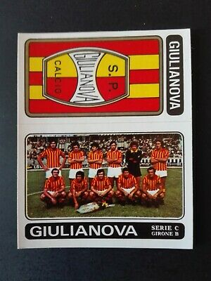 N.508 GIULIANOVA NUOVA FIGURINA CALCIATORI PANINI 1972//73