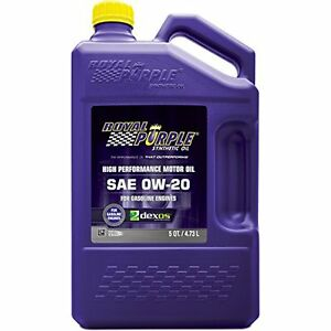 Royal Purple API Licensed SAE 0W 20 High Performance Synthetic Motor Oil 5 qt.